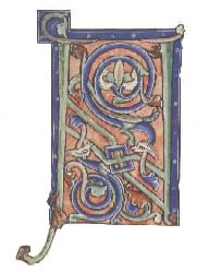 Burgess collection illuminated letter