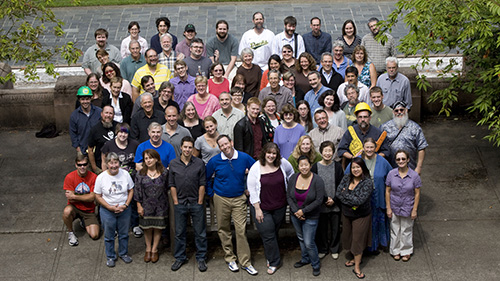 group photo of library staff