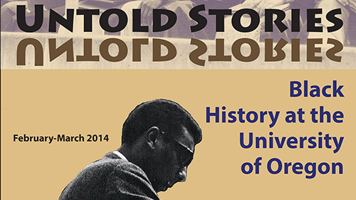 exhibit poster with the title Untold Stories