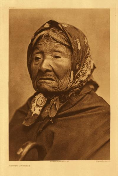 "Edward Curtis, Princess Angeline, no. 314, 1899, photogravure, from ""The North American Indian"""