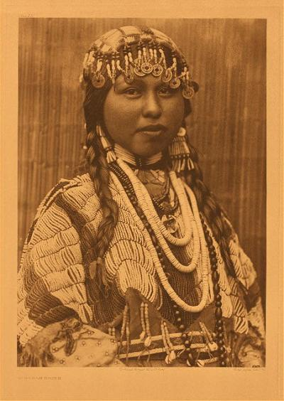 "Edward Curtis, Wishham Bride, no. 281, 1910, photogravure, from ""The North American Indian"""