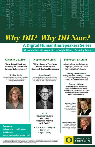 poster for The Digital Humanities Speaker Series 2017-18