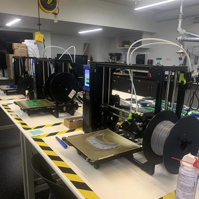 3-D printing machines in the Makerspace