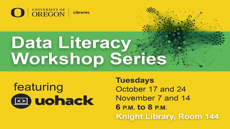 Data Literacy Workshop Series flyer