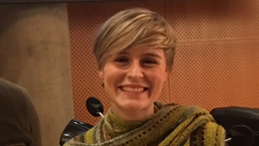 Kate Smith, UO Libraries' billing coordinator, at the February 18, 2017 UO Police Department awards ceremony