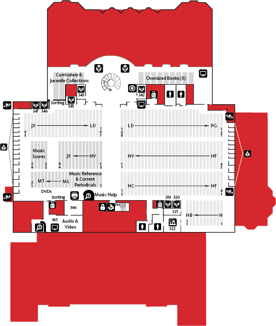 Knight Library Third Floor Map