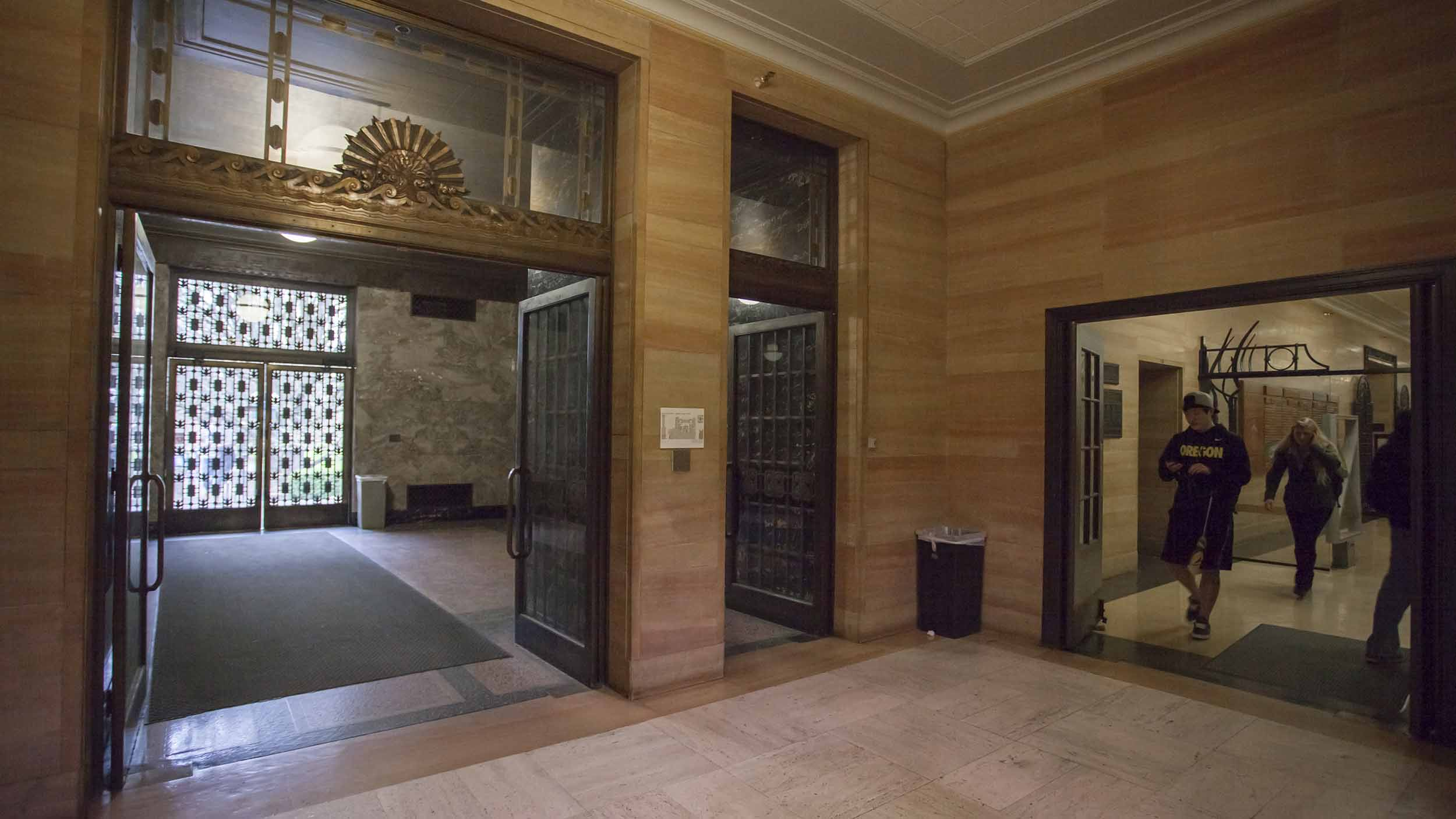 Knight Library exit doors