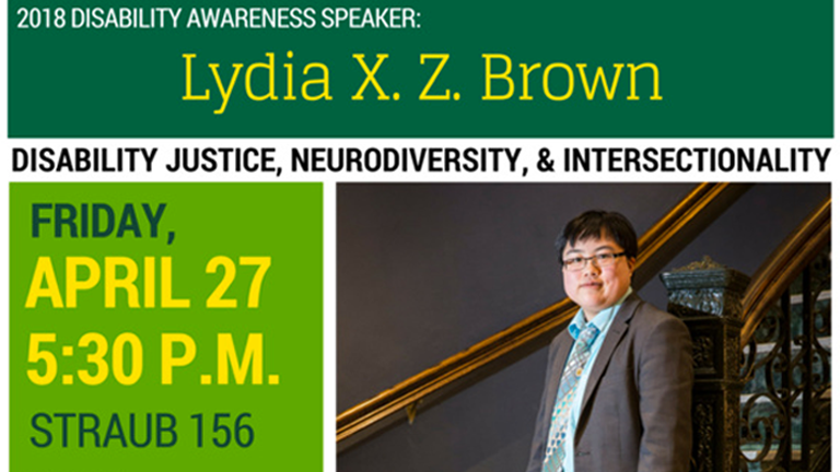 Lydia X. Z. Brown: 2018 Disability Awareness Speaker