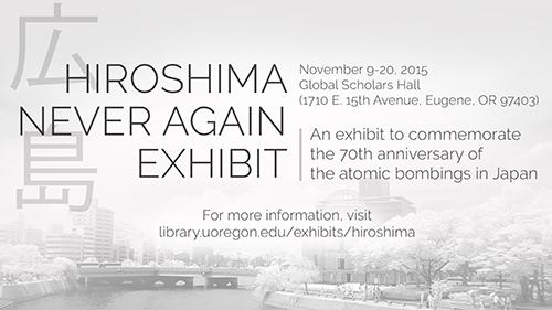Hiroshima Never Again Exhibit