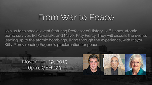From War to Peace event