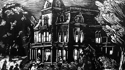 drawing of a mansion