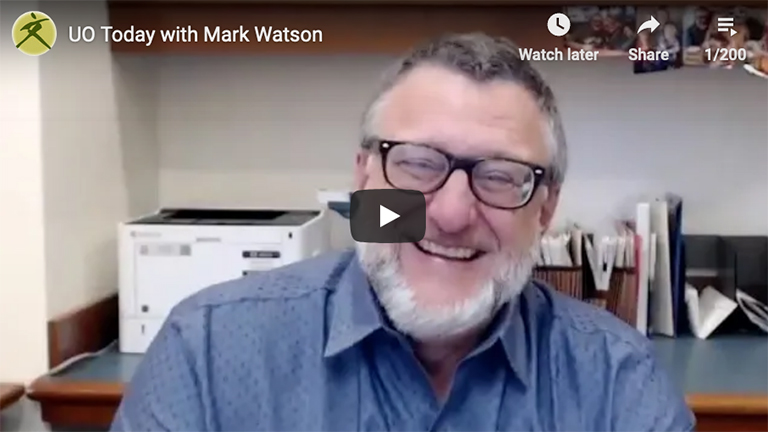 video still of Mark Watson, Interim Dean of Libraries