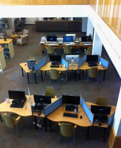 Workstations, Reading Room, Architecture and Allied Arts Library