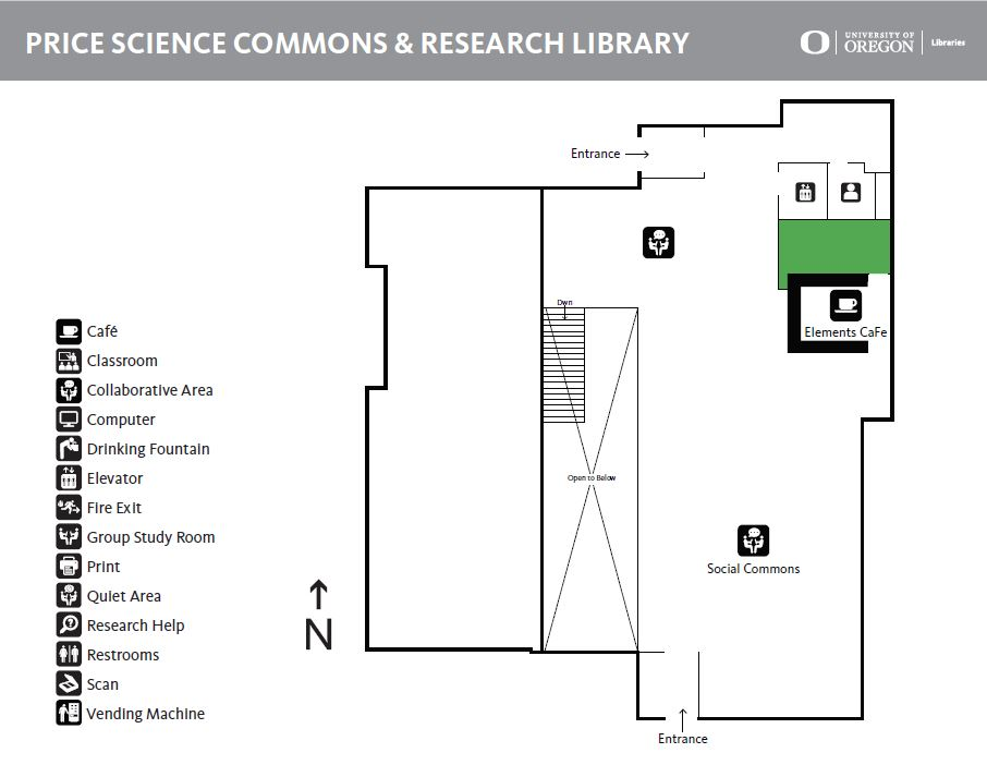 Science Library Map Uo Libraries