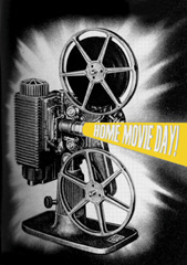 home movie day projector image