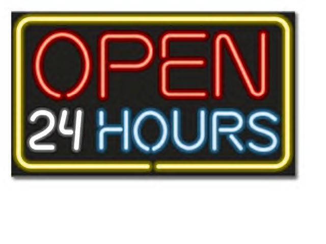 open 24 hours graphic