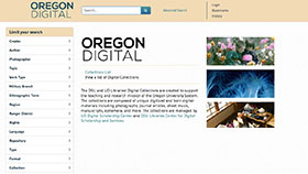 Oregon Digital home page screenshot