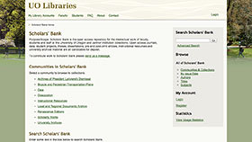 Scholars Bank home page screenshot