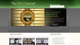 UO Channel home page screenshot