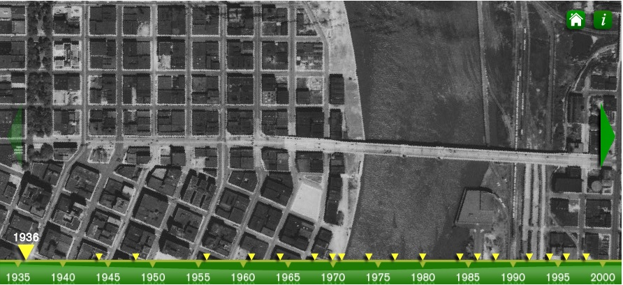 image: screenshot of aerial photo time series