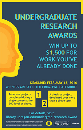 Undergraduate research awards poster