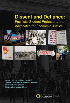 Dissent and Defiance exhibit poster