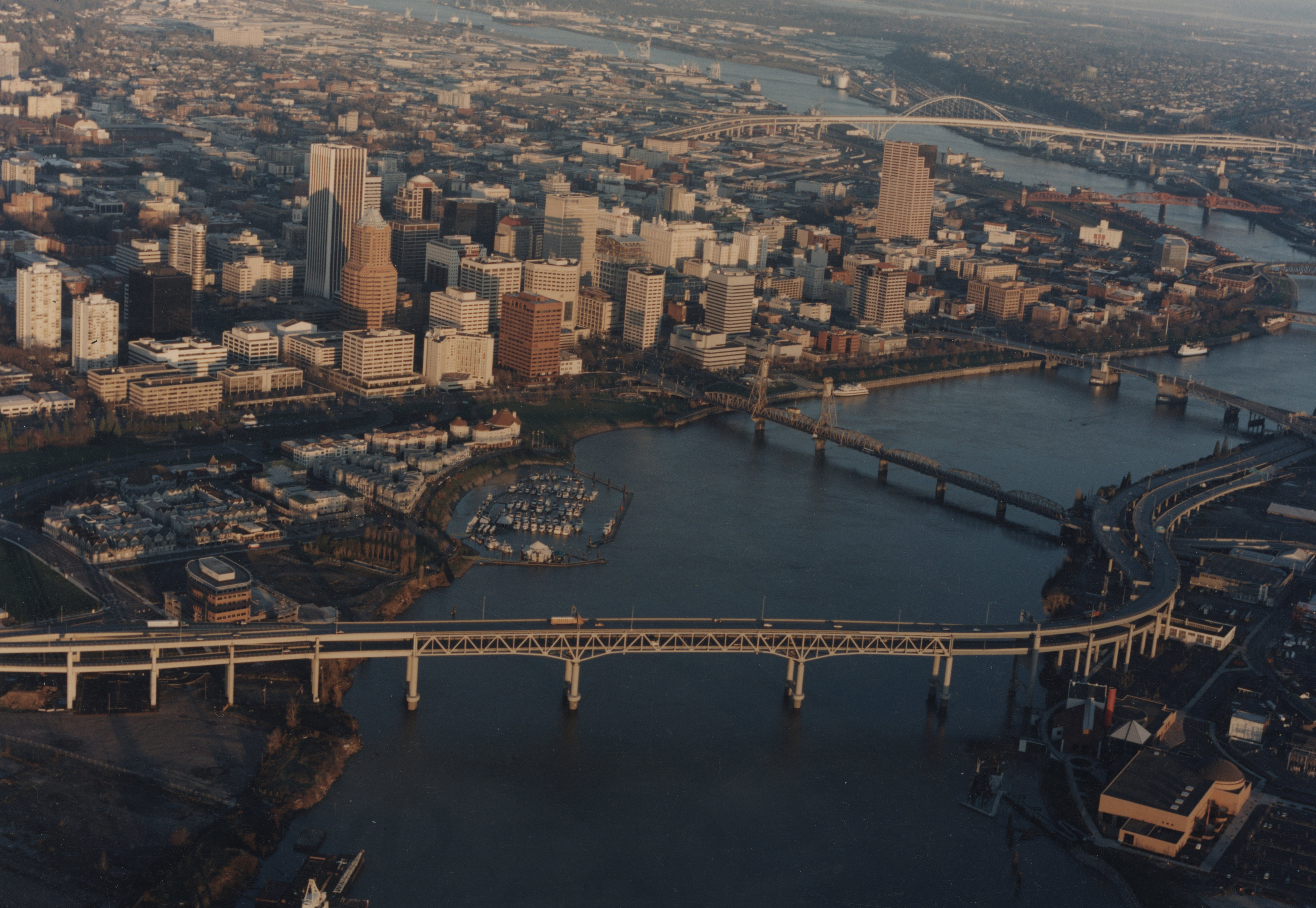 Oblique Aerial Photograph of Portland