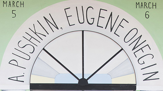 "Poster image for UO Russian Theater's production of ""Eugene Oregin"""