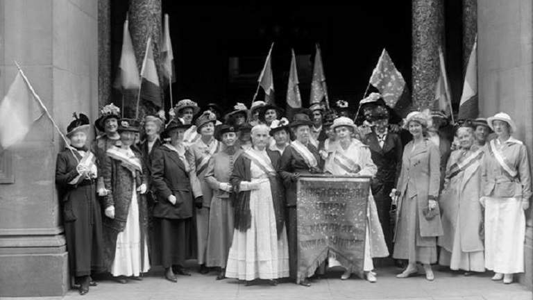 Group photo of Congressional Union for National Woman Suffrage, 1880