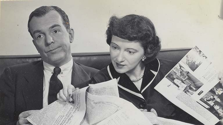 """Ethel and Albert"" co-stars Alan Bunce and Peg Lynch"