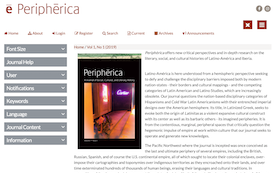 Screenshot of the Periphērica homepage