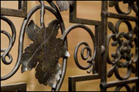 Decorative metal work gate