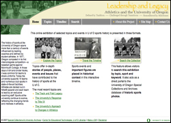 Leadership and Legacy - Athletics and the University of Oregon