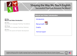 Shaping the Way We Teach English CD-ROM