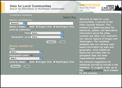 Data for Local Communities Website