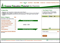 Greener Education Materials for Chemists Website