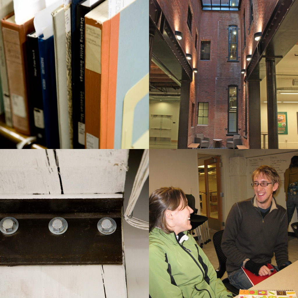 library photo collage