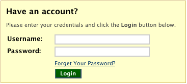 Login form: enter your Duck ID and password to log in.
