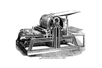 Hoe's one-cylinder printing press (source: Wikimedia)