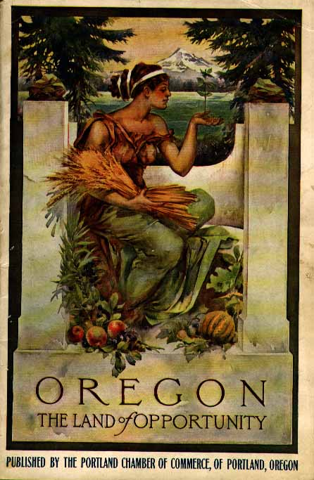Cover of brochure advertising Oregon