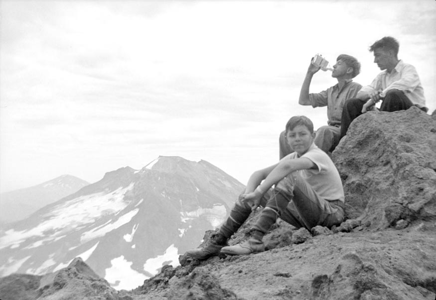 Boys on top of peak