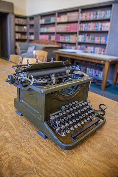 Peg Lynch's first typewriter