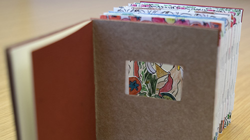 "Image of artists' book ""Salsa"" from the UO Libraries collection"