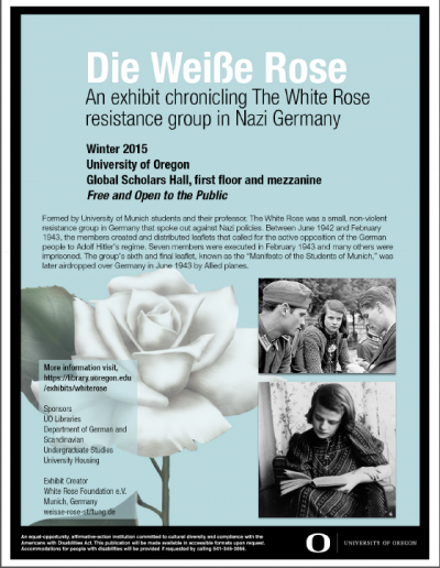 White Rose Exhibit poster