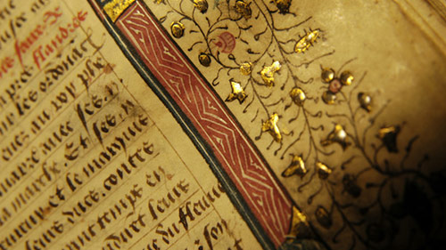 Photo of a rare book in old handwriting