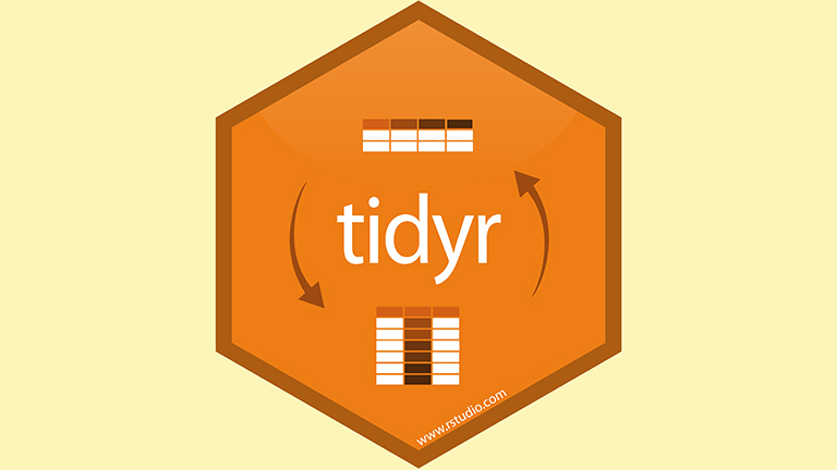 r studio graphic. A hexagon with t i d y r.