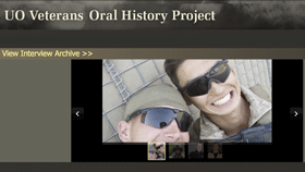 Screenshot of UO Veterans' Oral History Project