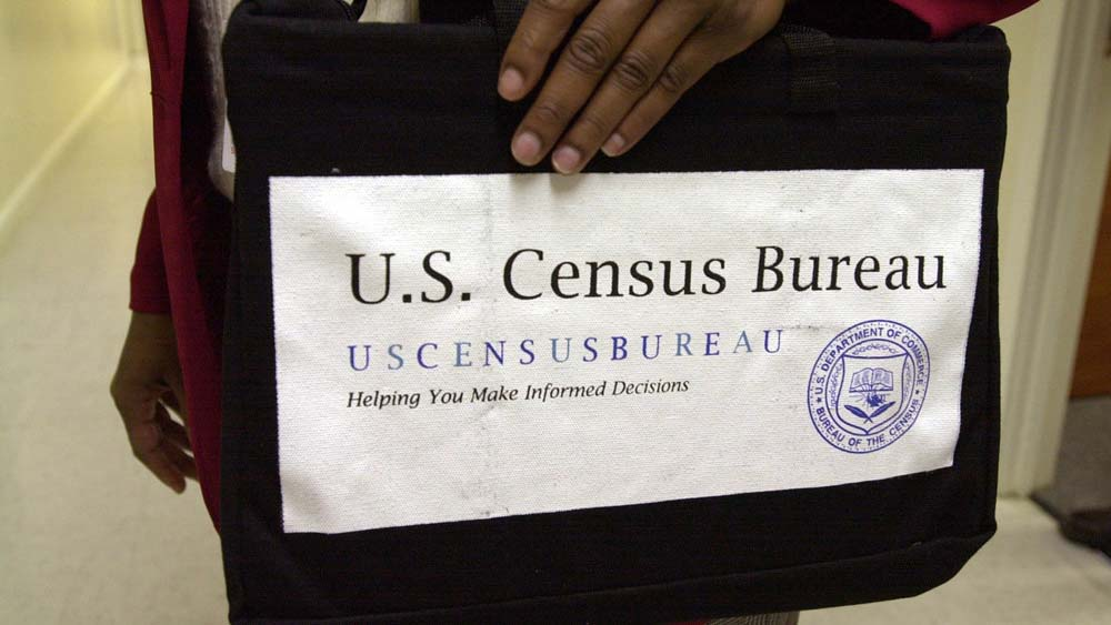 US Census Bureau logo on attache case
