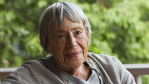 Portrait of author Ursula K. Le Guin.
