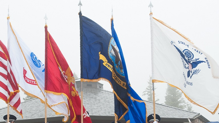 U.S. military service flags